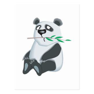 sad little panda bear postcard