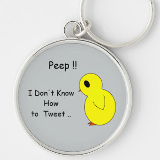 Sad Little Peep I Don't Tweet Key Chain
