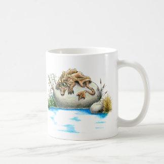Sad little rock dragon mug