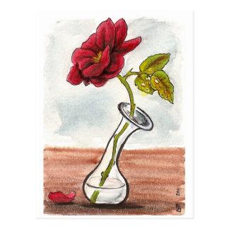 Sad Little Rose Postcard