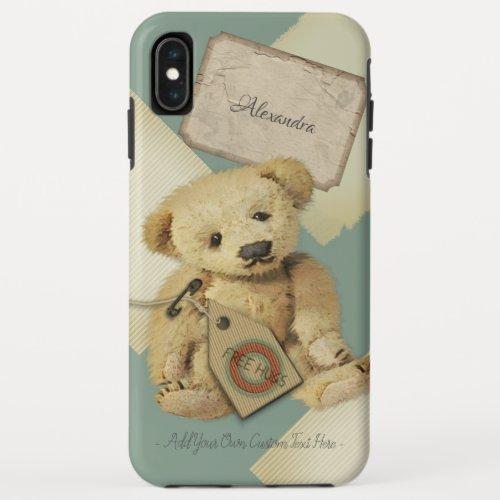 Sad Little Vinatge Teddy Bear Illustration iPhone XS Max Case