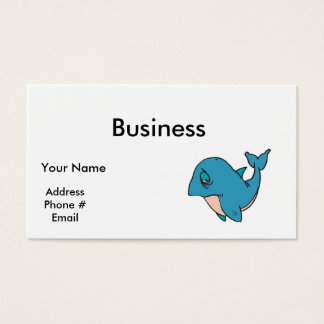 sad little whale business card