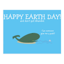 Sad little whale quote question funny animals postcard
