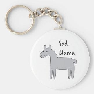 Sad Llama Keychain