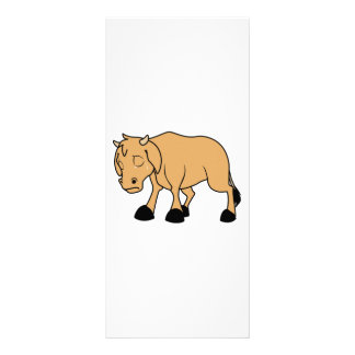 Sad Lonely Crying Brown Calf World Vegetarian Day Personalized Rack Card