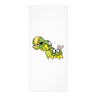 Sad Lonely Crying Weeping Caterpillar Card Stamp Rack Cards