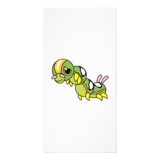 Sad Lonely Crying Weeping Caterpillar Pillow Card Customized Photo Card