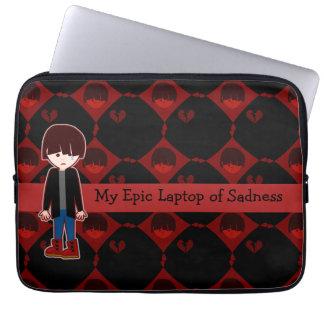 Sad Lonely Emo Boy Laptop Computer Sleeves
