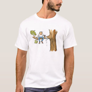 Sad man up a tree T-Shirt