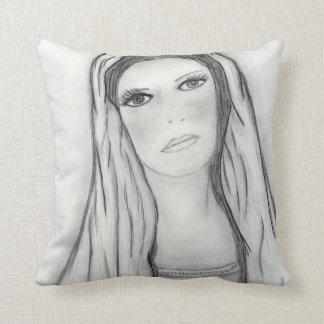 Sad Mary Throw Pillow