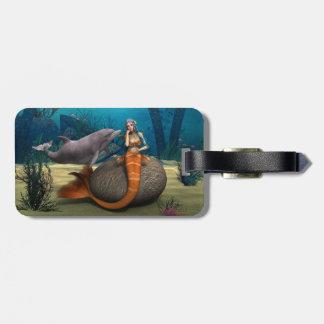 Sad Mermaid Bag Tag
