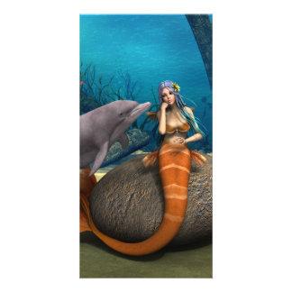 Sad Mermaid Card