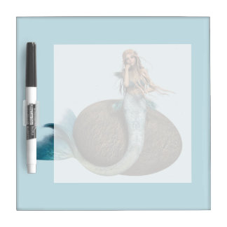Sad Mermaid Dry-Erase Board