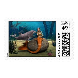 Sad Mermaid Postage
