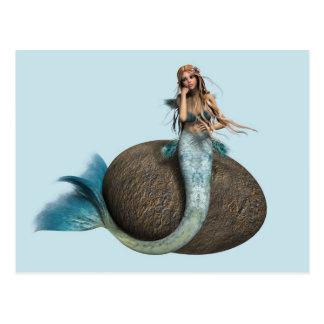 Sad Mermaid Postcard