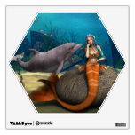 Sad Mermaid Wall Sticker