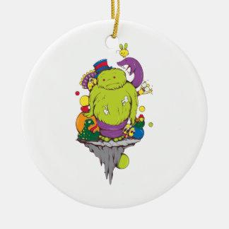 sad monster and friends vector cartoon art ornaments