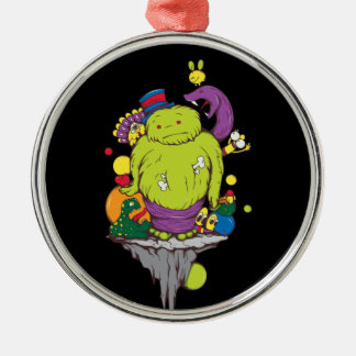 sad monster and friends vector cartoon art christmas ornament