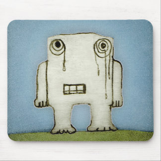 Sad Monster Baby Crying Mouse Pad