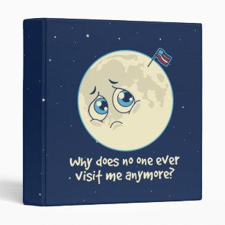 Sad Moon 3 Ring Binder