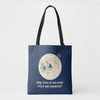 Sad Moon Tote Bag