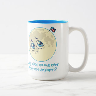 Sad Moon Two-Tone Coffee Mug