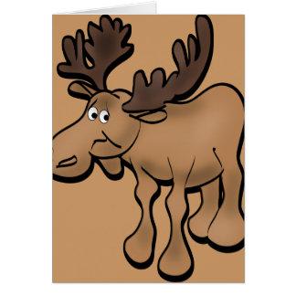 Sad Moose Greeting Card