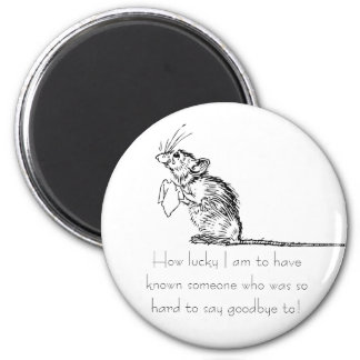 Sad Mouse Farewell 2 Inch Round Magnet