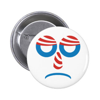 Sad Obama Button Pin