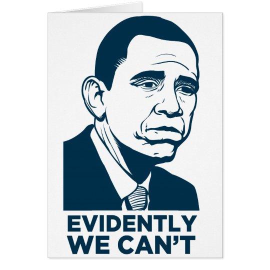 Sad Obama Card