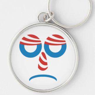Sad Obama Face Keychain