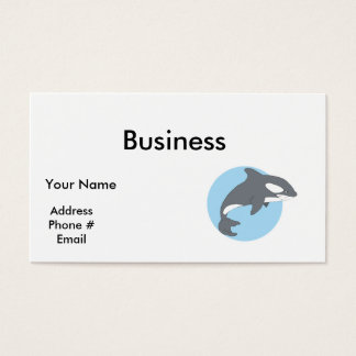 sad orca whale business card