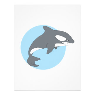 sad orca whale full color flyer