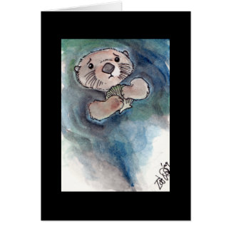 Sad Otter Notecard Stationery Note Card