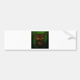 Sad owl eyes bumper sticker