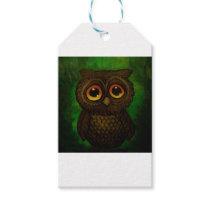 Sad owl eyes gift tags