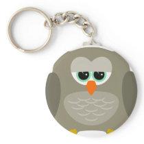 Sad owl keychain