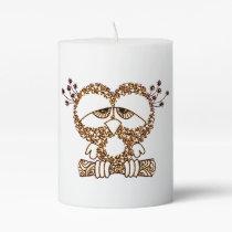 Sad Owl Pillar Candle