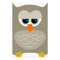 Sad owl stationery