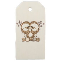 Sad Owl Wooden Gift Tags