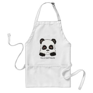 Sad Panda Adult Apron