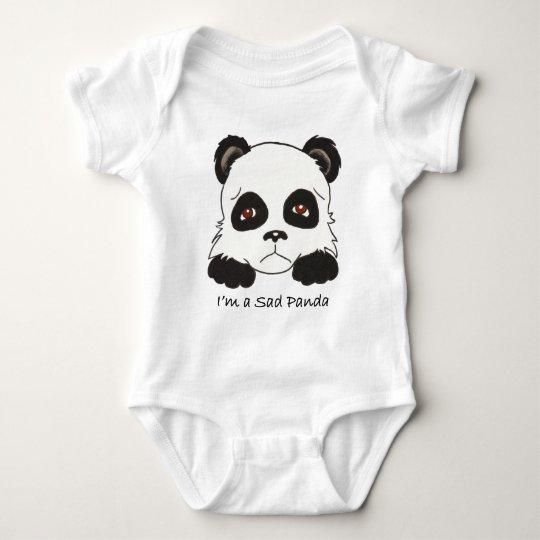 Sad Panda Baby Bodysuit
