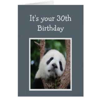 Sad Panda Bear 30th Thirty Happy Birthday Humor Card