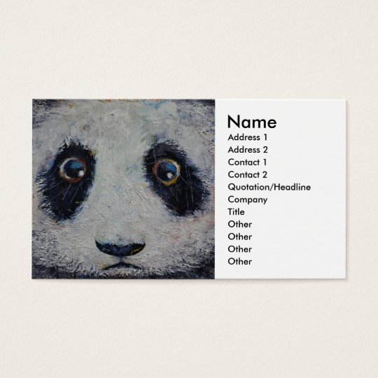 Sad Panda Business Card