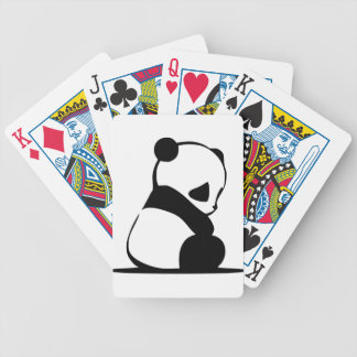 Sad Panda - Cute Baby Panda Bear Bicycle Playing Cards