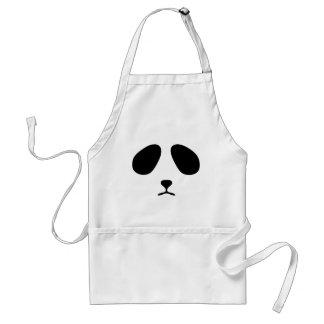 Sad panda face adult apron
