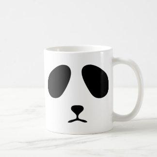 Sad panda face classic white coffee mug