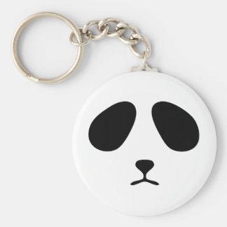 Sad panda face keychains