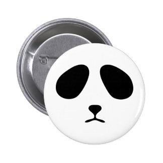 Sad panda face pinback buttons