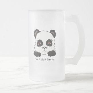 Sad Panda Frosted Glass Beer Mug